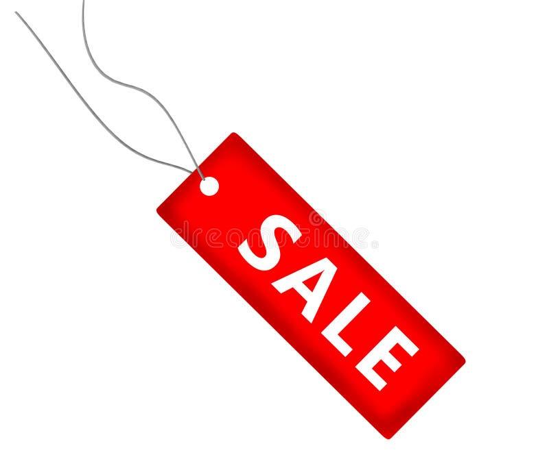 Iscrizione su una vendita rossa del fondo royalty illustrazione gratis