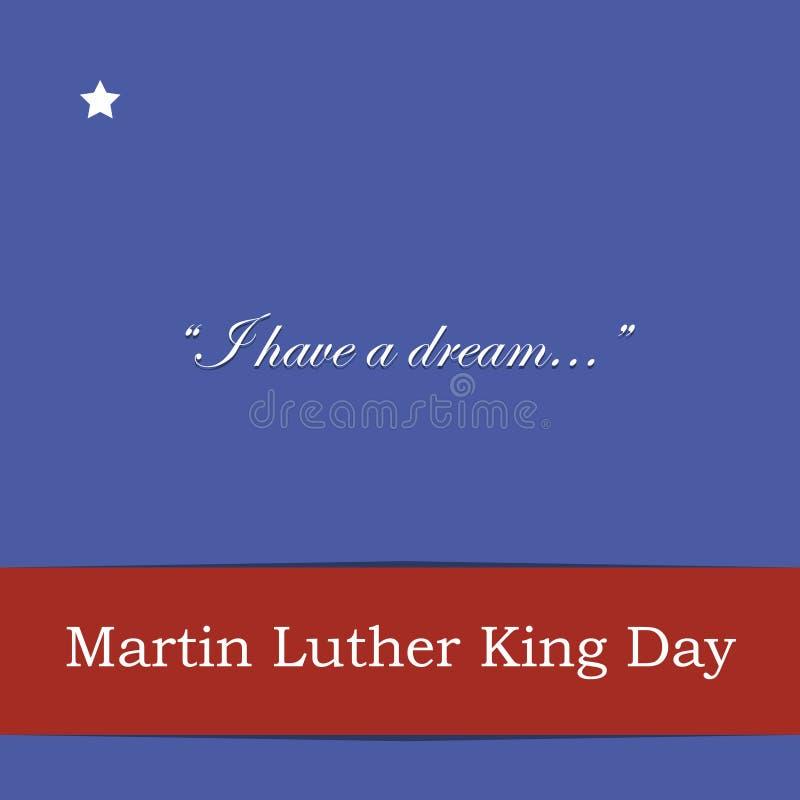 Iscrizioni di saluto di Martin Luther King Day con le citazioni illustrazione vettoriale