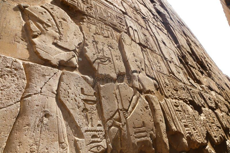 Iscrizioni faraoniche fotografia stock