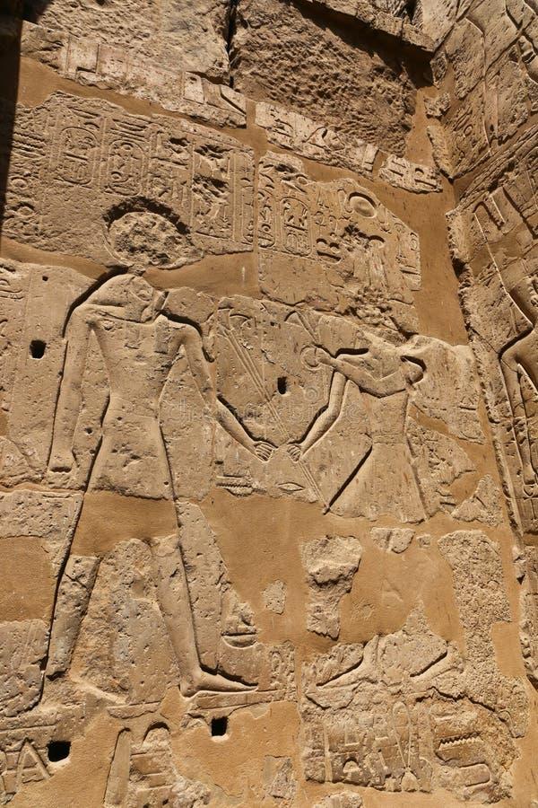 Iscrizioni faraoniche immagine stock