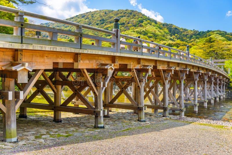 Ise, Japon au pont d'Uji photos stock