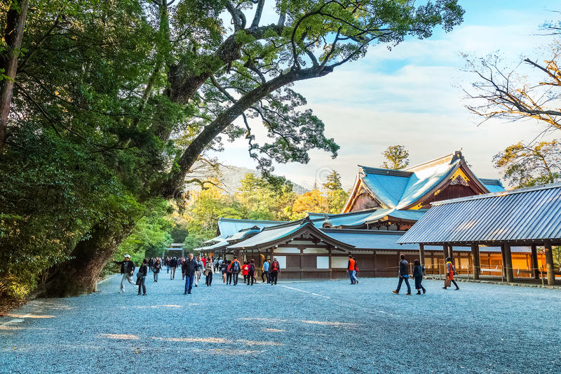 Ise Jingu NaikuIse Grand shrine - inner shrine in Ise City, Mie Prefecture. Ise Grand Shrine Naiku - inner shrine, officially known as Kotai Jingu dedicated to stock photography