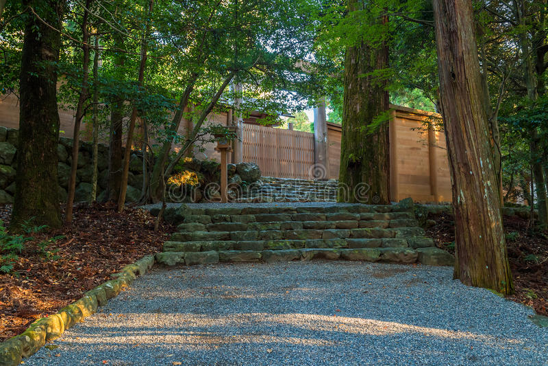 Ise Jingu NaikuIse Uroczysta świątynia - wewnętrzna świątynia w Ise mieście, Mie prefektura obrazy stock