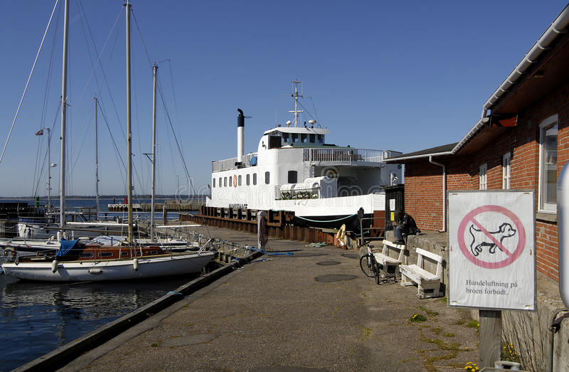 Isefjord hundeste fairy. HUNDESTED/DENMARK. 21April 2015 _Danish small fairy Isefjord hundested sail between hundested and Roervig carry autos and people (Photo stock photo