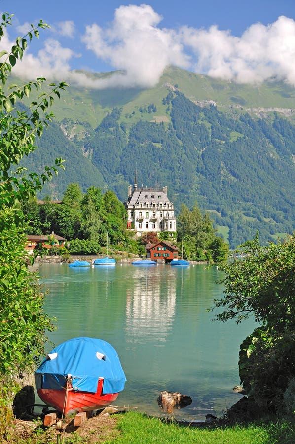 Iseltwald, lago Brienz, Svizzera fotografia stock libera da diritti