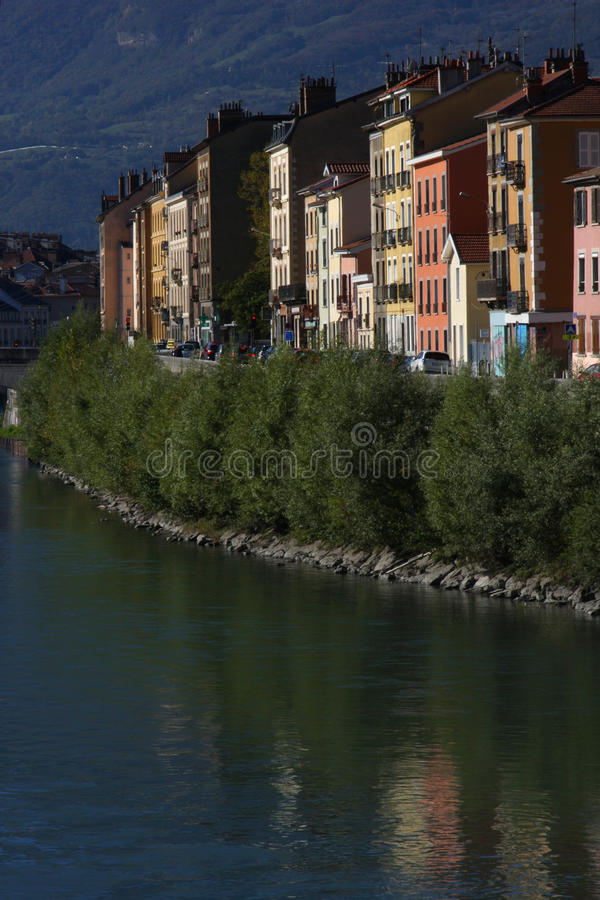 Download Isere River Quay In Grenoble Stock Photo - Image of architecture, france: 27472064