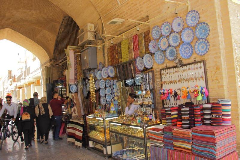 Isfahan, Иран - 20-ое апреля 2019 Базар квадрата Naqsh-e Jahan в Isfahan, Иране стоковое изображение