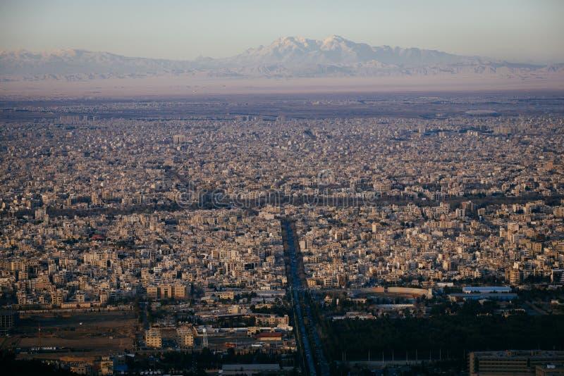 Isfahan сверху стоковые изображения rf