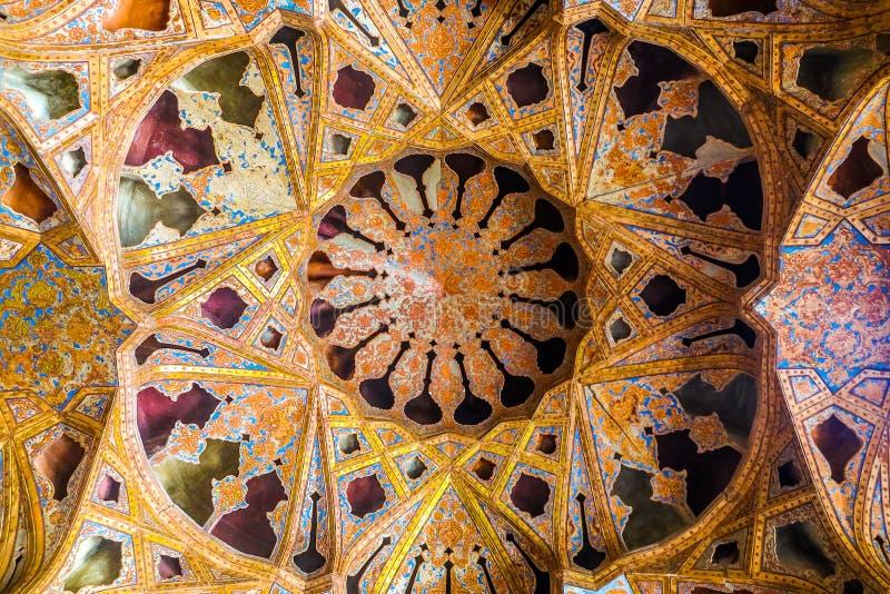 Isfahan Ali Qapu Royal Palace 11 imagem de stock