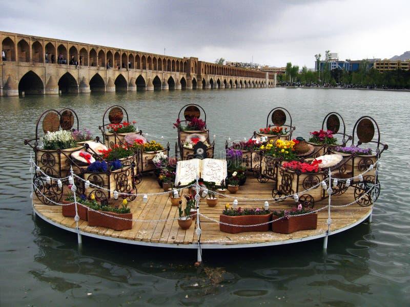Decorative Haft Sin table in Isfahan, Iran royalty free stock photos