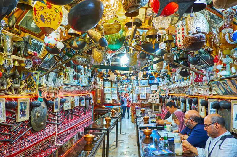 The scenic tea house in Isfahan, Iran royalty free stock images