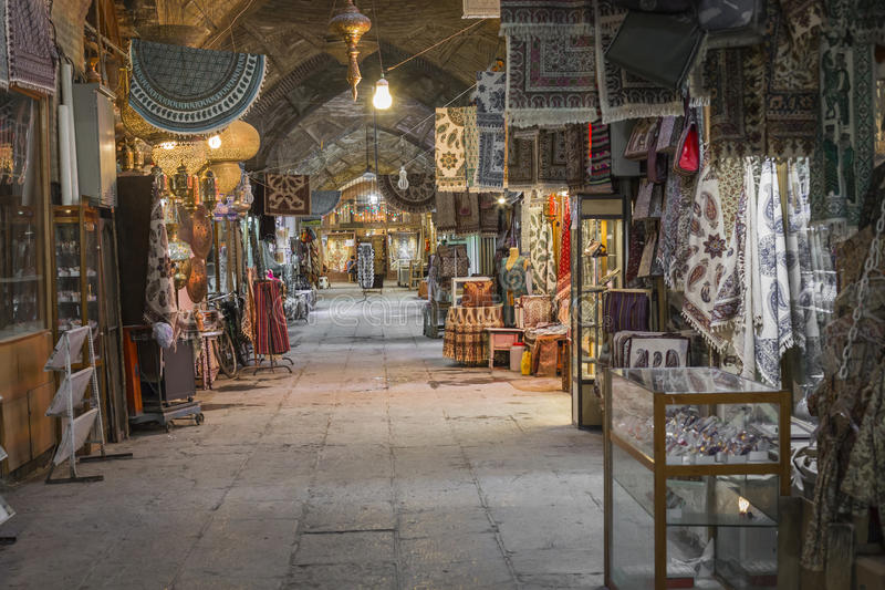 ISFAHAN, IRAN - OCTOBER 06, 2016: traditional iranian souvenirs. In market Bazaar in Isfahan, Iran. Bazaar of Isfahan is the most important tourist attraction royalty free stock images