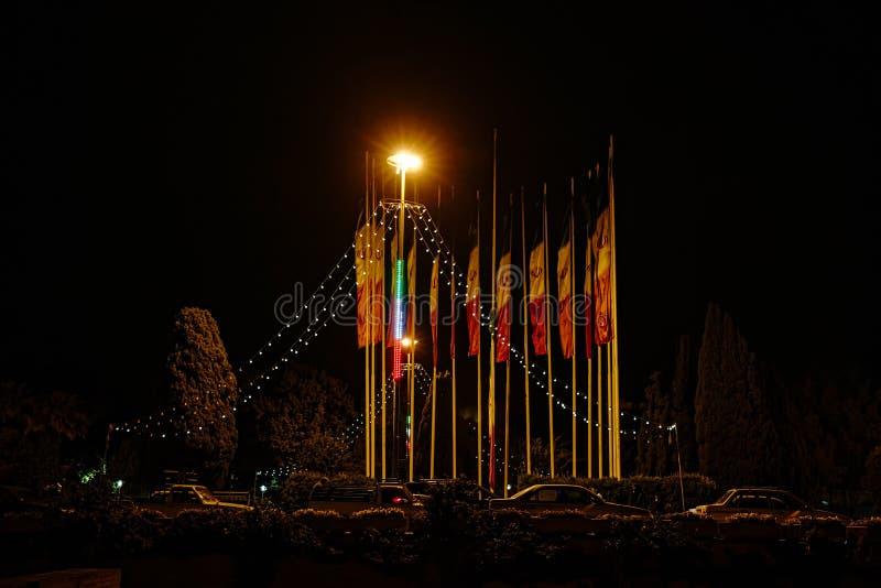 Isfahan nattplats arkivfoto