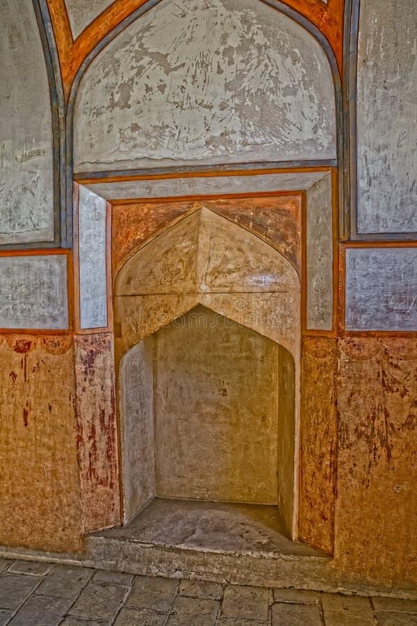 Интерьер дворца Isfahan Али Qapu стоковое изображение rf