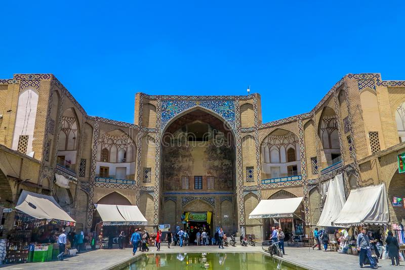 Isfahan Qeysarie Gate stock photos