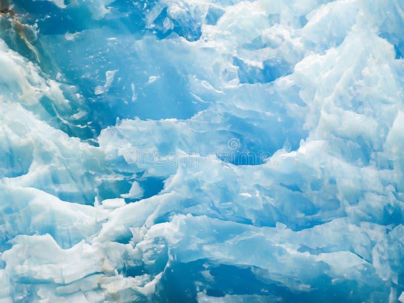Isflöde av glaciären i den Tray Arm fjorden Alaska royaltyfri bild