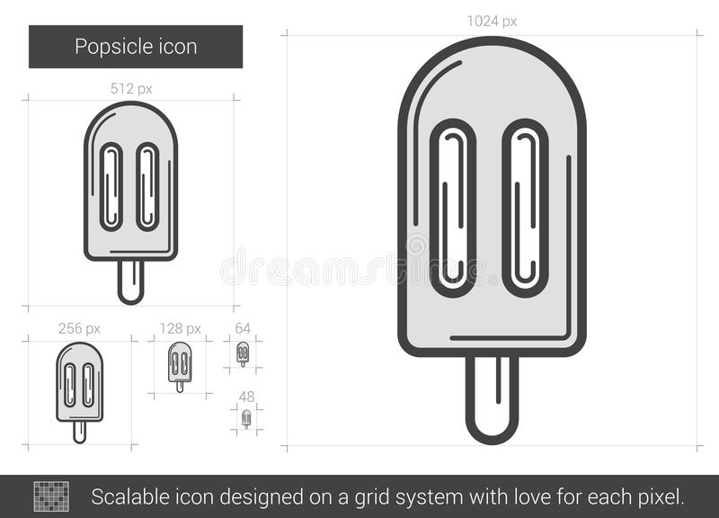 Isglasslinje symbol stock illustrationer
