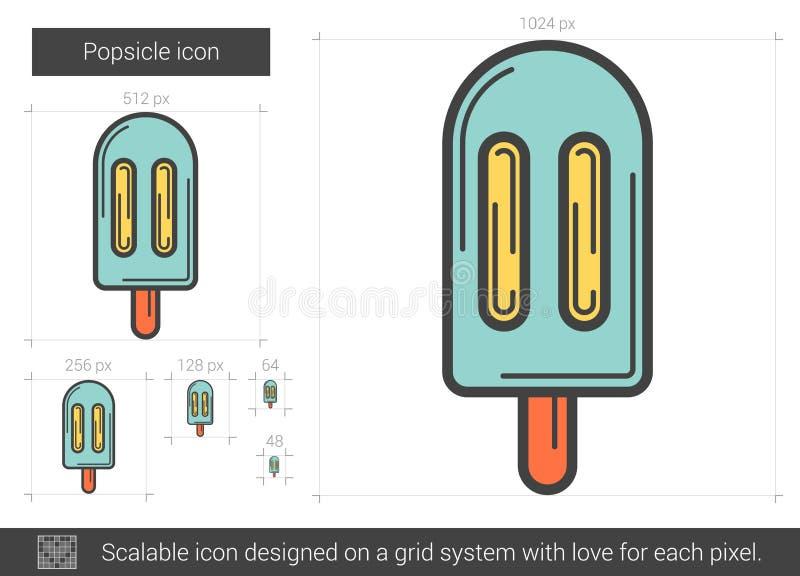 Isglasslinje symbol vektor illustrationer