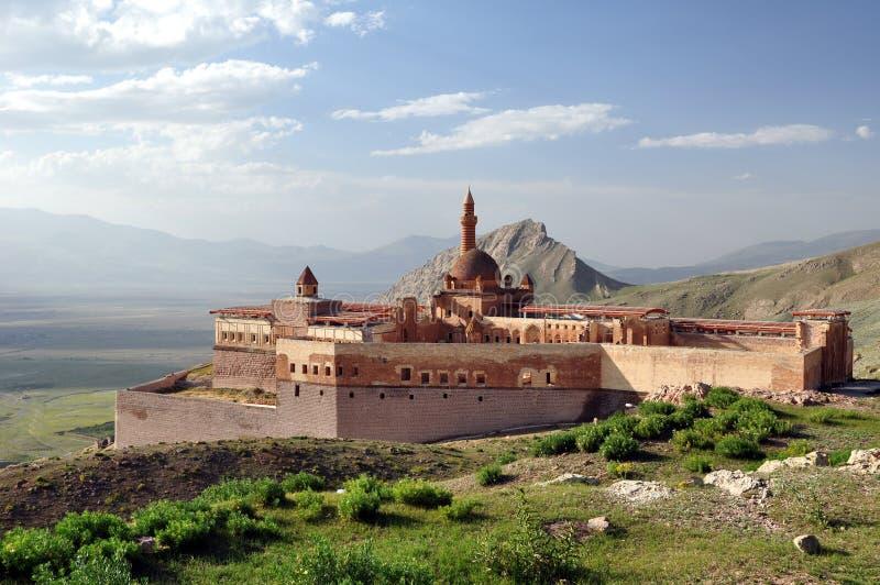 Ishak Pasha palace. Near Dogubayazit in eastern Turkey royalty free stock photography