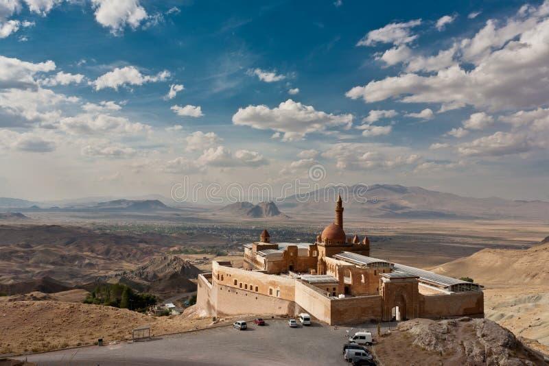 Ishak Pasha palace. Near Dogubayazit, Turkey royalty free stock photos