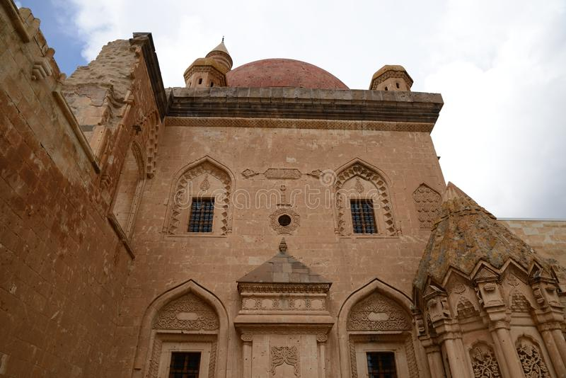 Ishak Pasha palace. Castle was built during 17th century by Cholak Abdi Pasha and ended one century later by his soin. The castle is located near Dogubayazit stock photo