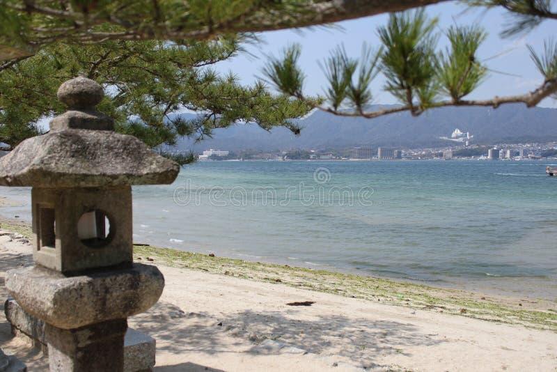 Ishi-doro在宫岛 库存图片
