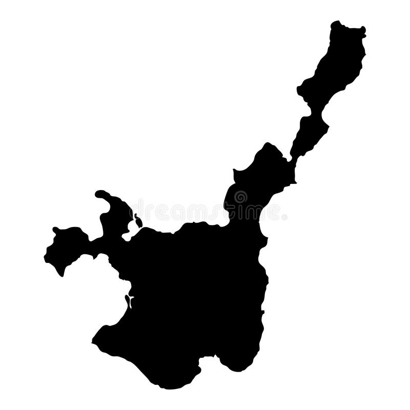 Ishigaki mapa ilustracja wektor