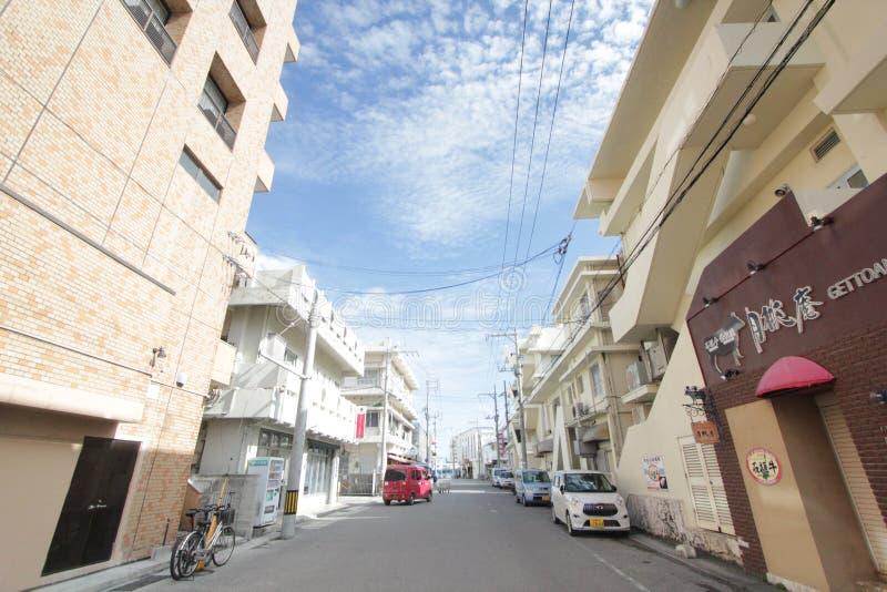 Ishigaki-Straßenansicht in Japan stockbild