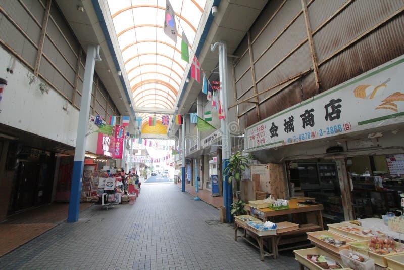 Ishigaki street view in Japan royalty free stock photo