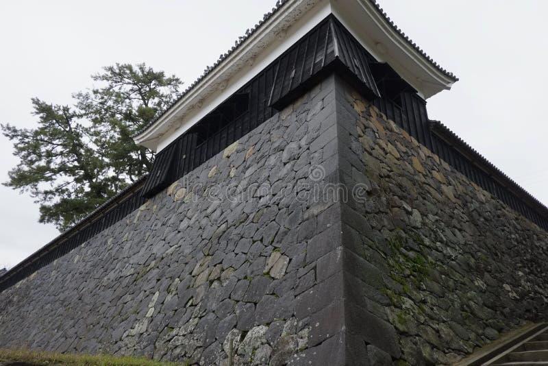 Ishigaki van Matsue Castle, een nationale schat in Shimane-prefectuur stock fotografie
