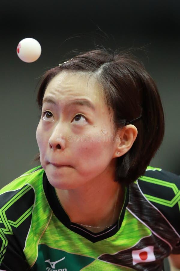 ISHIKAWA Kasumi dal Giappone sul servire immagini stock libere da diritti