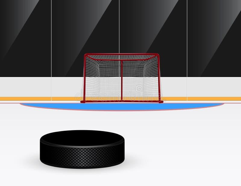 Ishockey vektor illustrationer