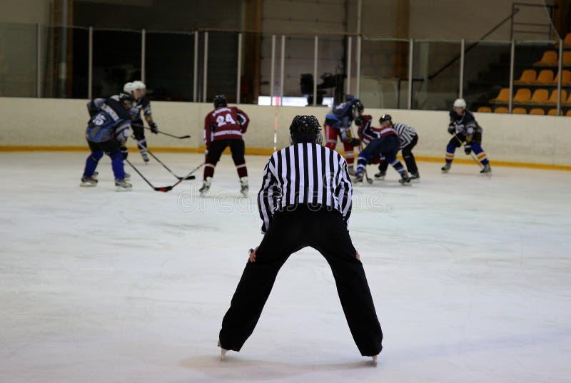 Ishockeydomare arkivbild