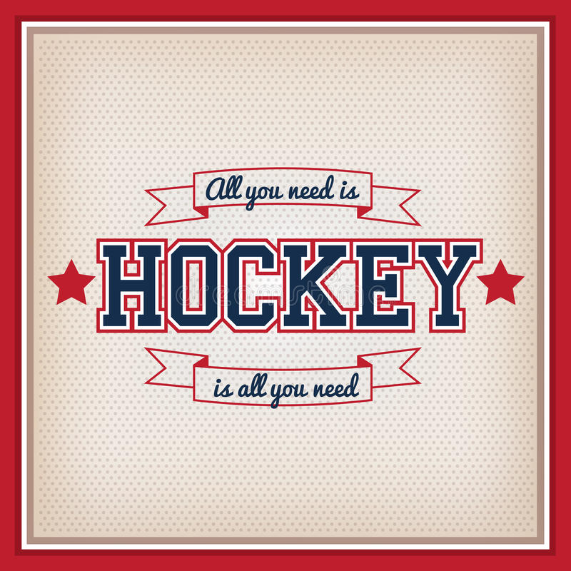 Ishockeyemblem royaltyfri illustrationer