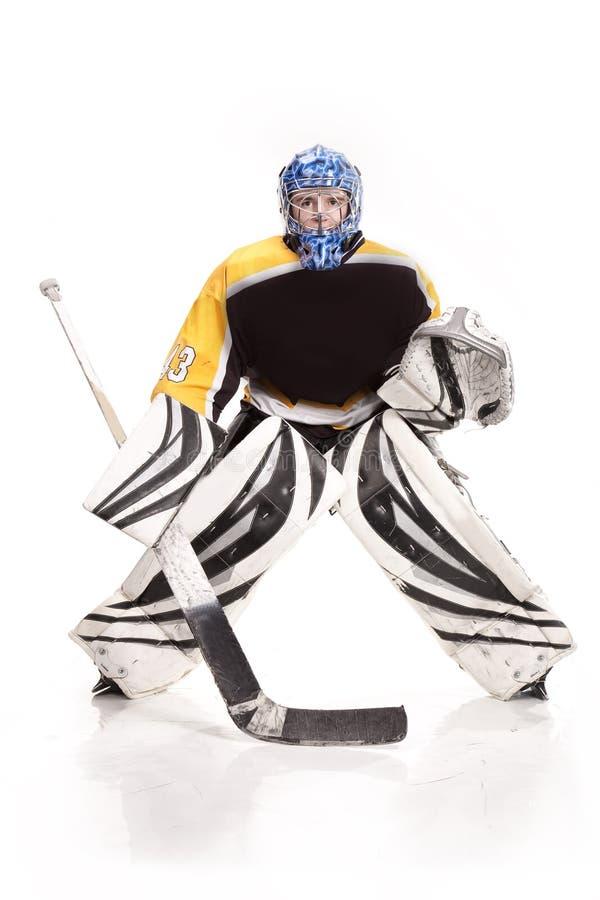 Ishockeygoalie stock illustrationer