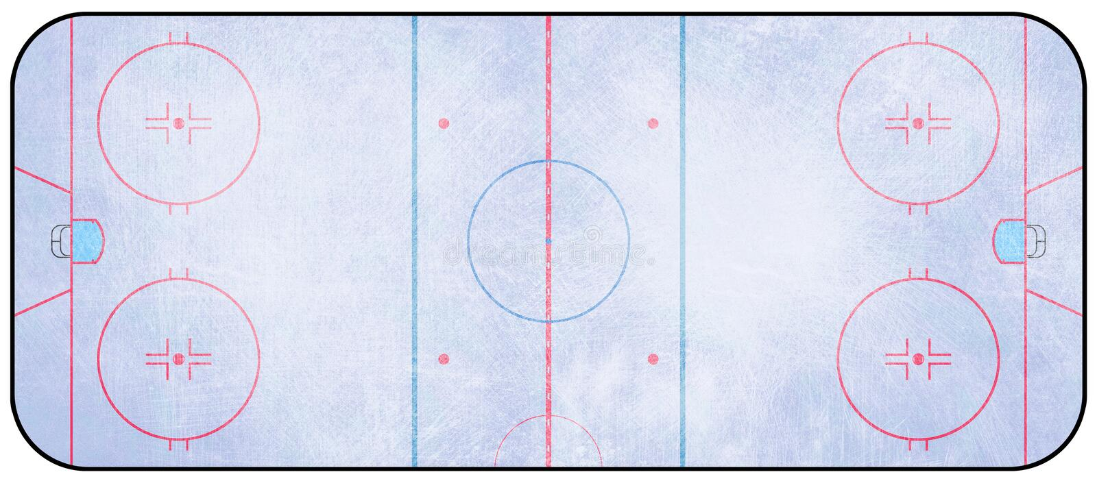 Ishockeyisbana stock illustrationer