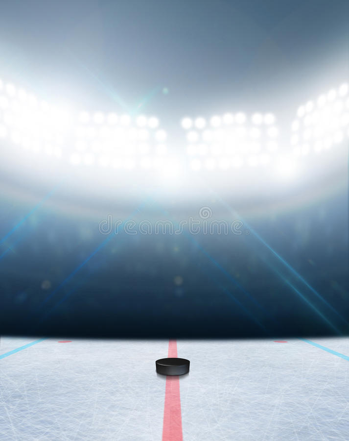Ishockeyisbanastadion royaltyfria bilder