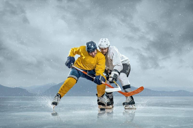 Ishockeyspelare royaltyfri fotografi