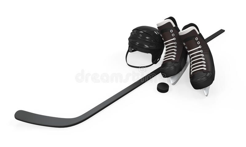 Ishockeyutrustning royaltyfria foton