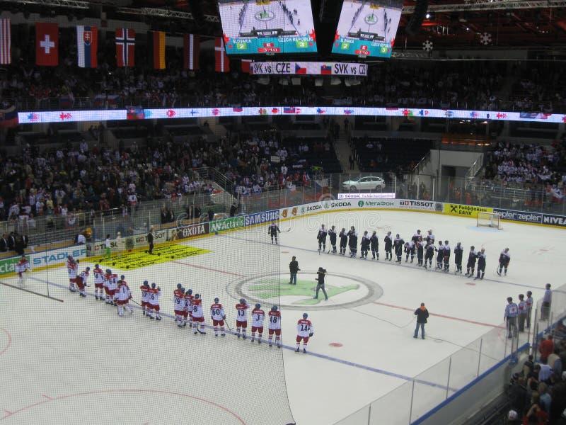 Ishockeyvärldsmästerskap Minsk 2014 royaltyfria foton