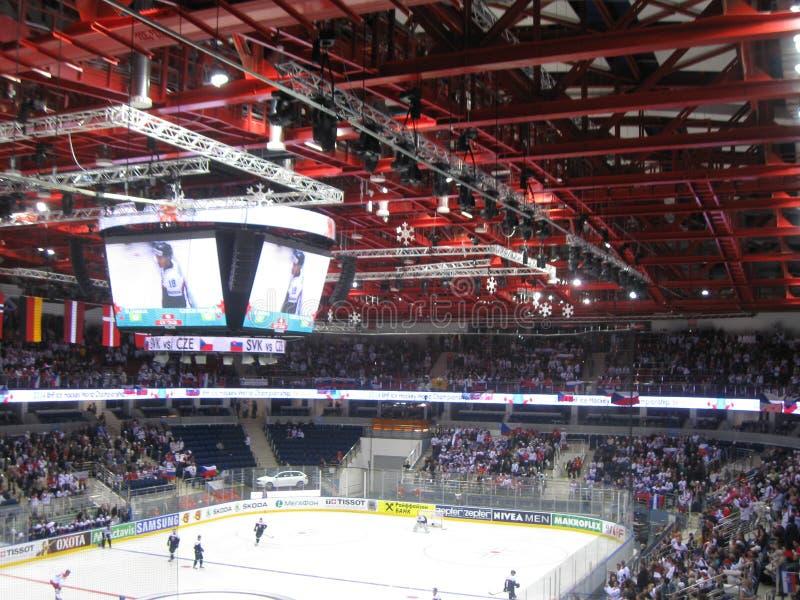 Ishockeyvärldsmästerskap Minsk 2014 royaltyfria bilder