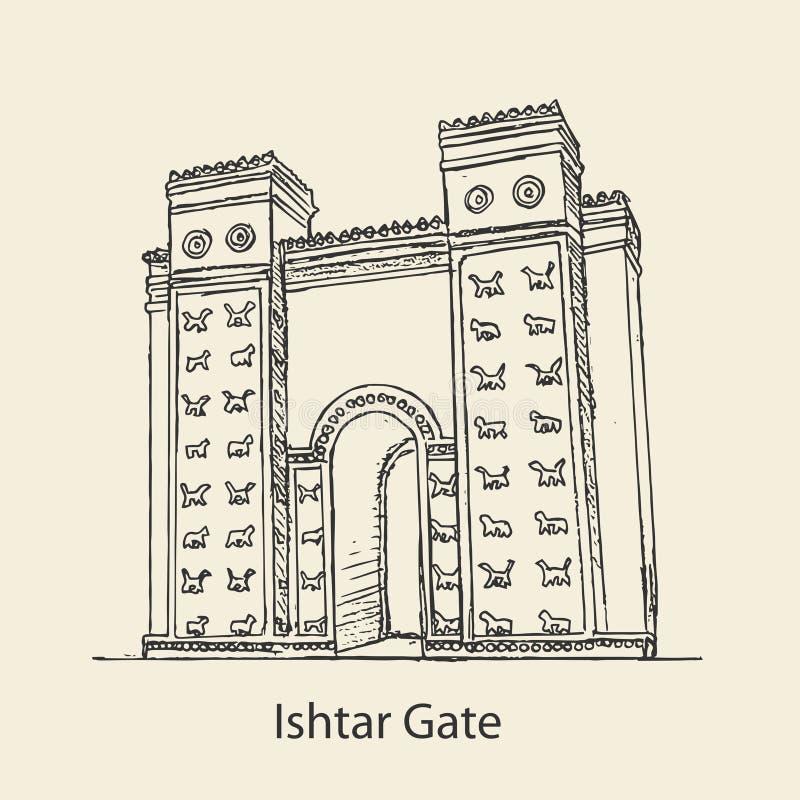 Ishtar brama babilończyk royalty ilustracja