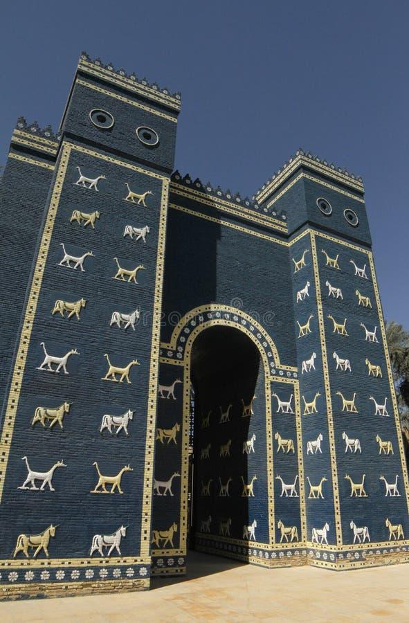 Ishtar port i Babylon, Irak fotografering för bildbyråer