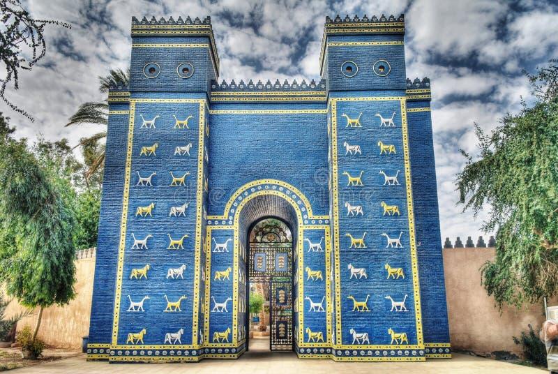 Ishtarpoorten in Babylon royalty-vrije stock foto's