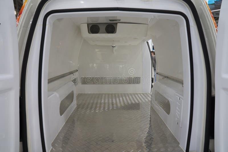 Iside de koelkastbestelwagen royalty-vrije stock fotografie