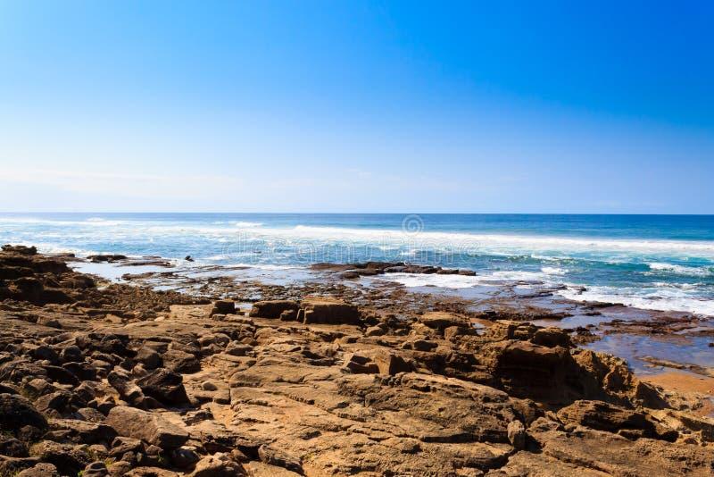 Isimangaliso våtmark parkerar stranden, Sydafrika royaltyfria bilder