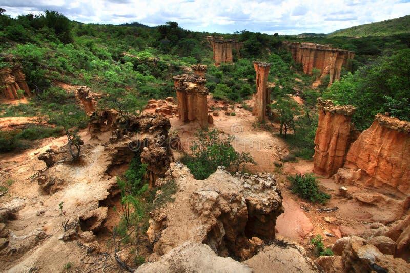 Isimila Stone Age Site stock photography
