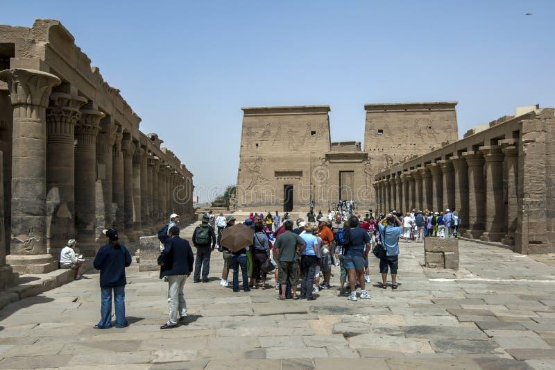 Isis寺庙在海岛上的菲莱(Agilqiyya海岛)在埃及 免版税库存照片