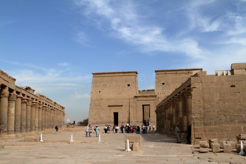 Isis świątynia Philae w Egipt obraz royalty free