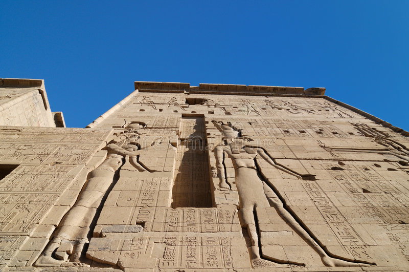 isis της Αιγύπτου ναός στοκ φωτογραφίες